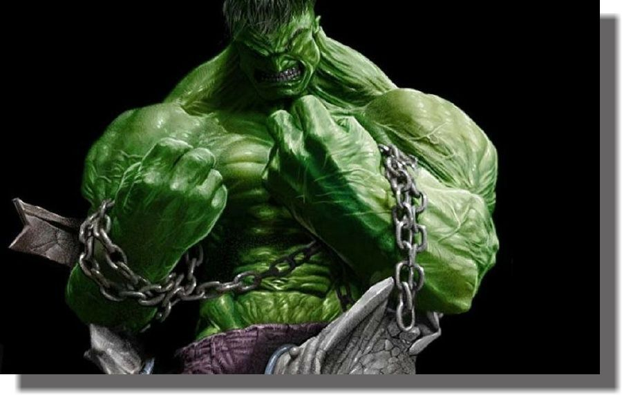 Quadro Decorativo Quarto Hulk 60x100 Criança