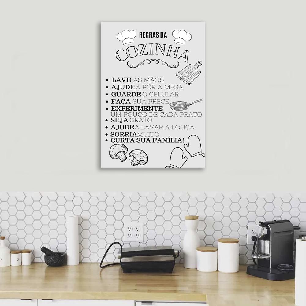 Quadro Decorativo  Regras Da Cozinha