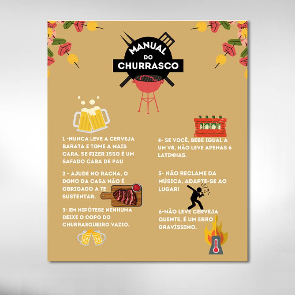 Quadro Decorativo Regras do Churrasco Bebidas