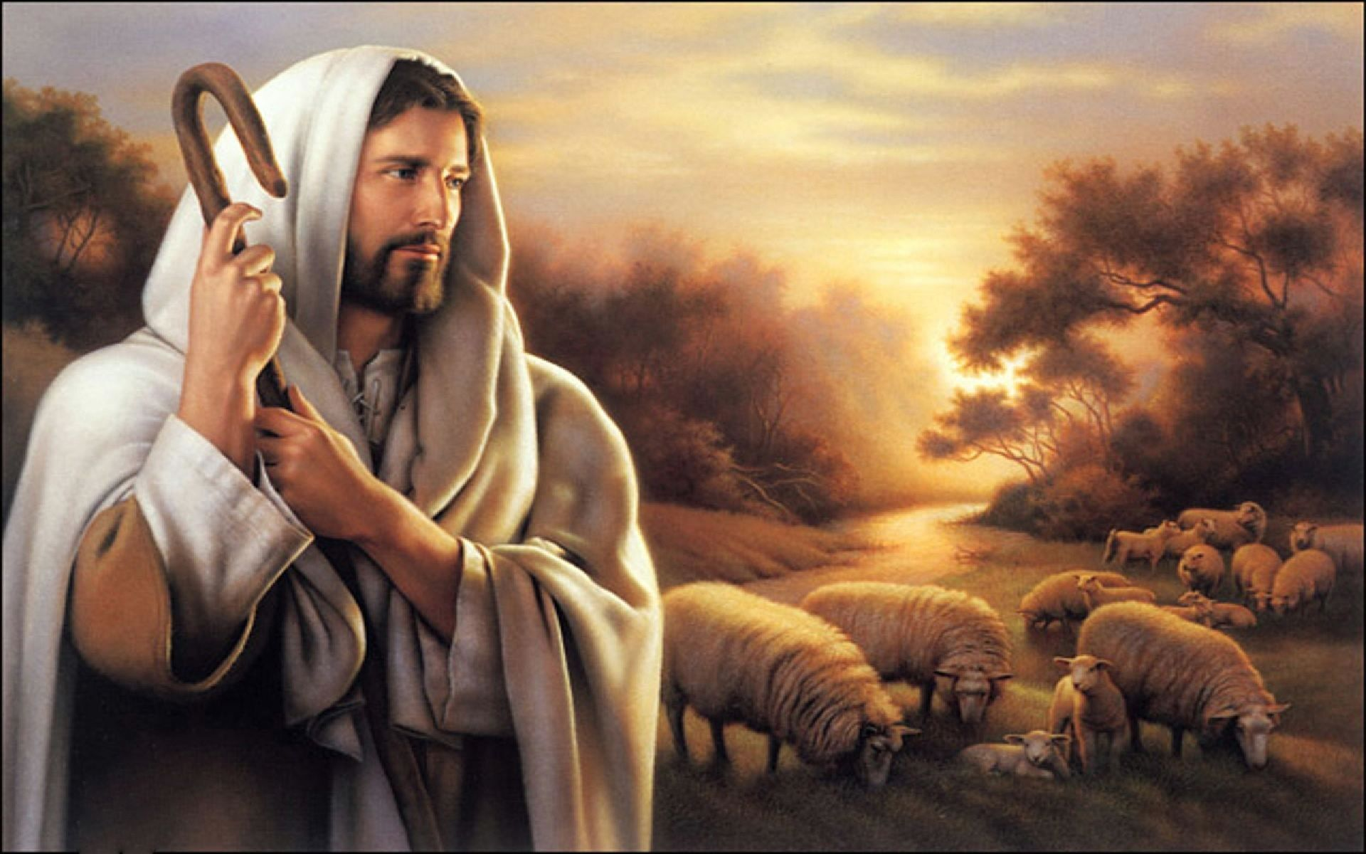 Quadro Decorativo Religioso Parede Jesus Cristo O Bom Pastor