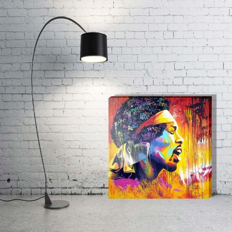 Quadro Decorativo rock Jimi Hendrix 1 Peça