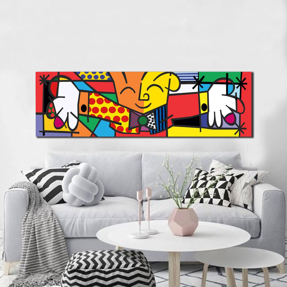 Quadro Decorativo Romero Britto The Hug O Abraço