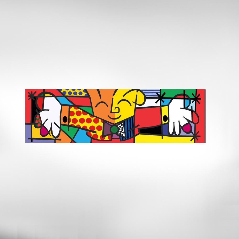 Quadro Decorativo Romero Britto The Hug O Abraço