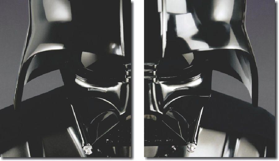 Quadro Decorativo Star Wars darth vader 2 Peças