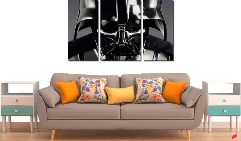 Quadro Decorativo Star Wars Dark Vador 3 Peças