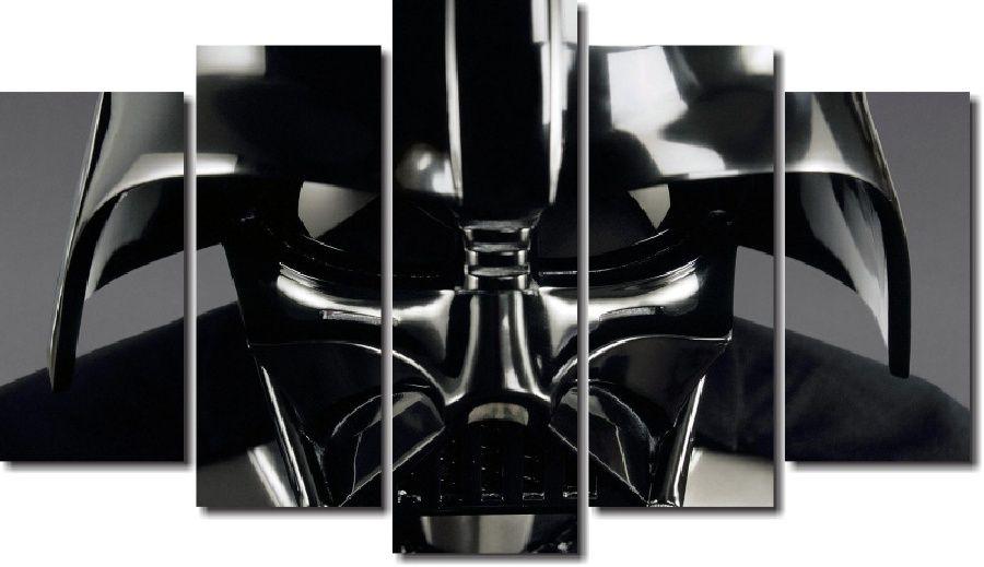 Quadro Decorativo Star Wars Dark Vador 5 Peças