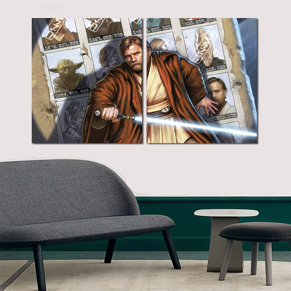 Quadro Decorativo Star Wars Order 66 2 Peças