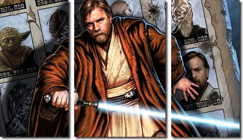 Quadro Decorativo Star Wars Order 66 3 Peças
