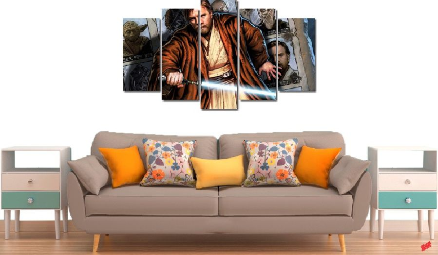 Quadro Decorativo Star Wars Order 66 5 Peças