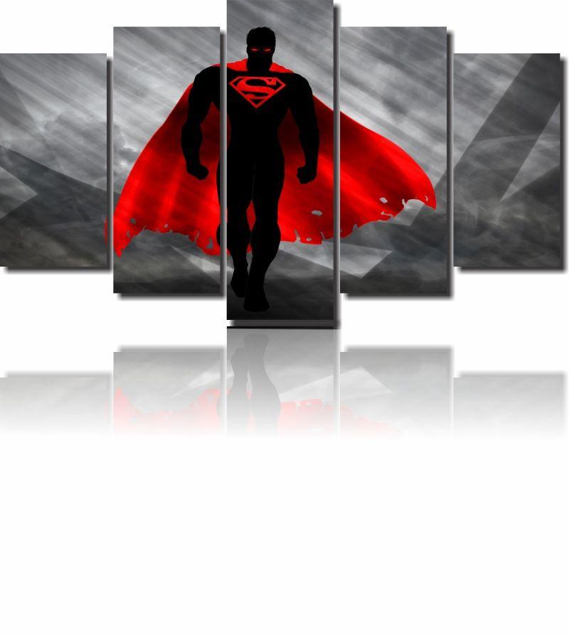 Quadro Decorativo Super Homem 5 peças