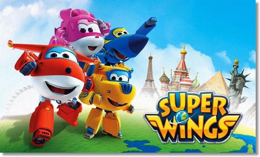 Quadro Decorativo Super Wings Para Quarto Infatil