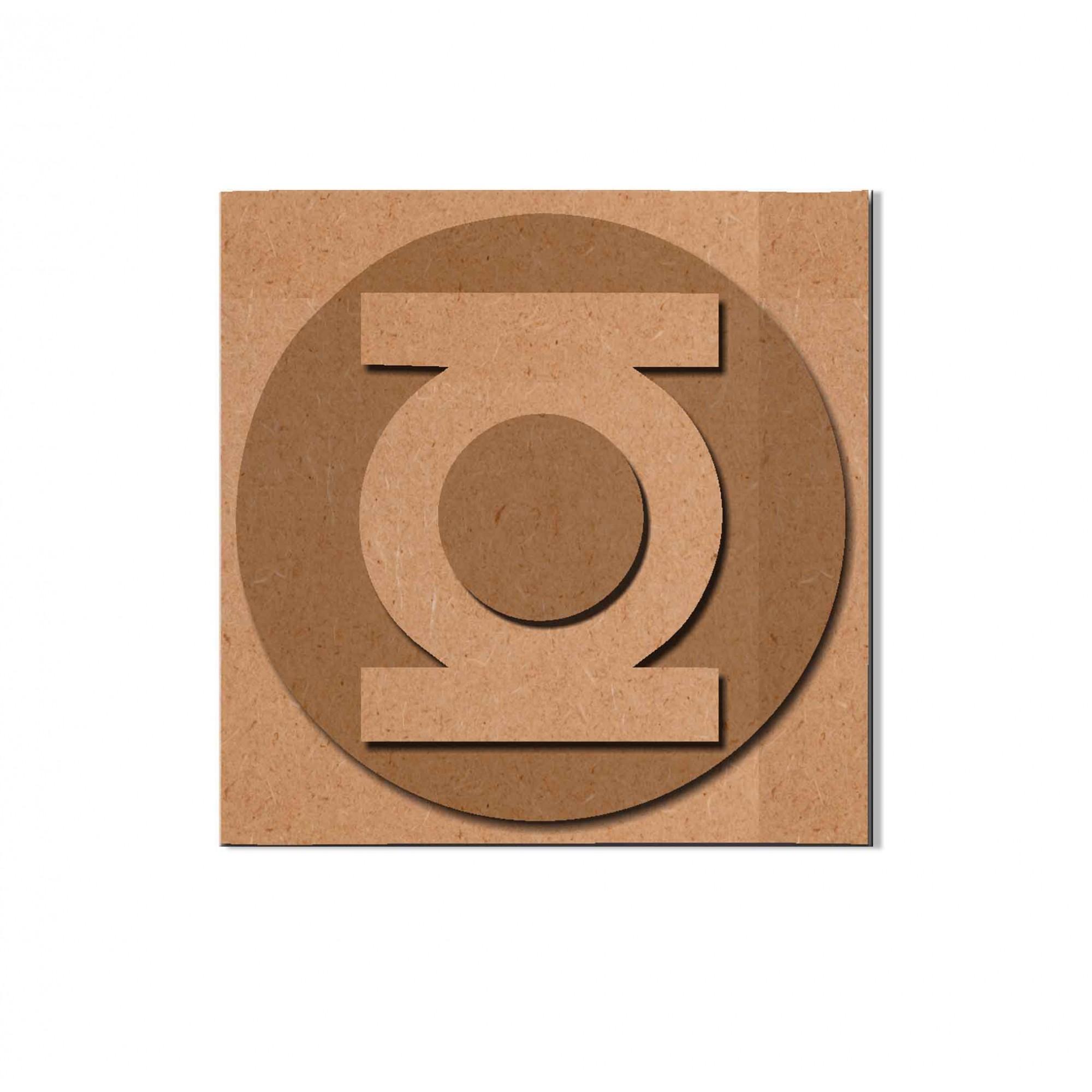 Quadro Decorativo SuperHerói Lanterna Verde Recorte Mdf 6 mm