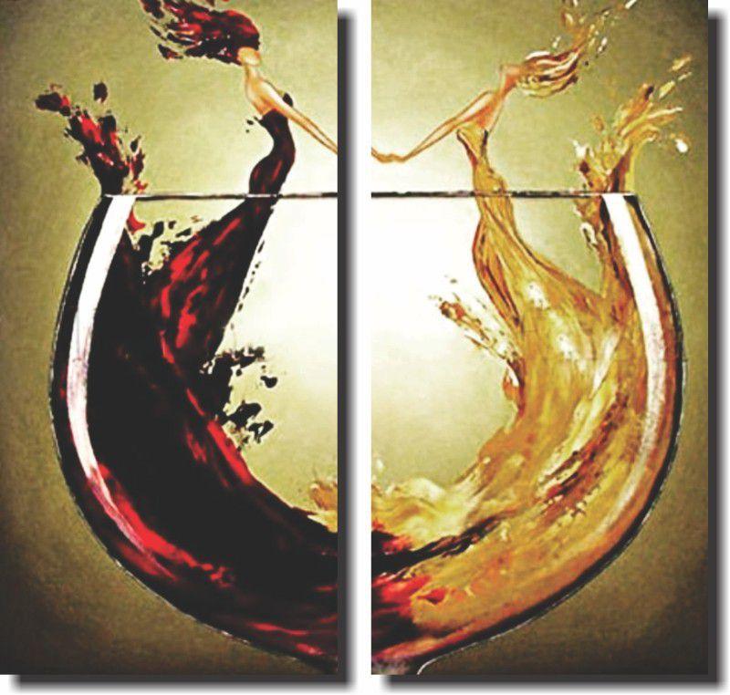 Quadro Decorativo Taça de Vinho Vintage