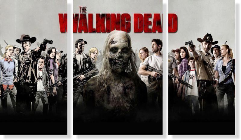 Quadro Decorativo The Walking Dead 3 peças