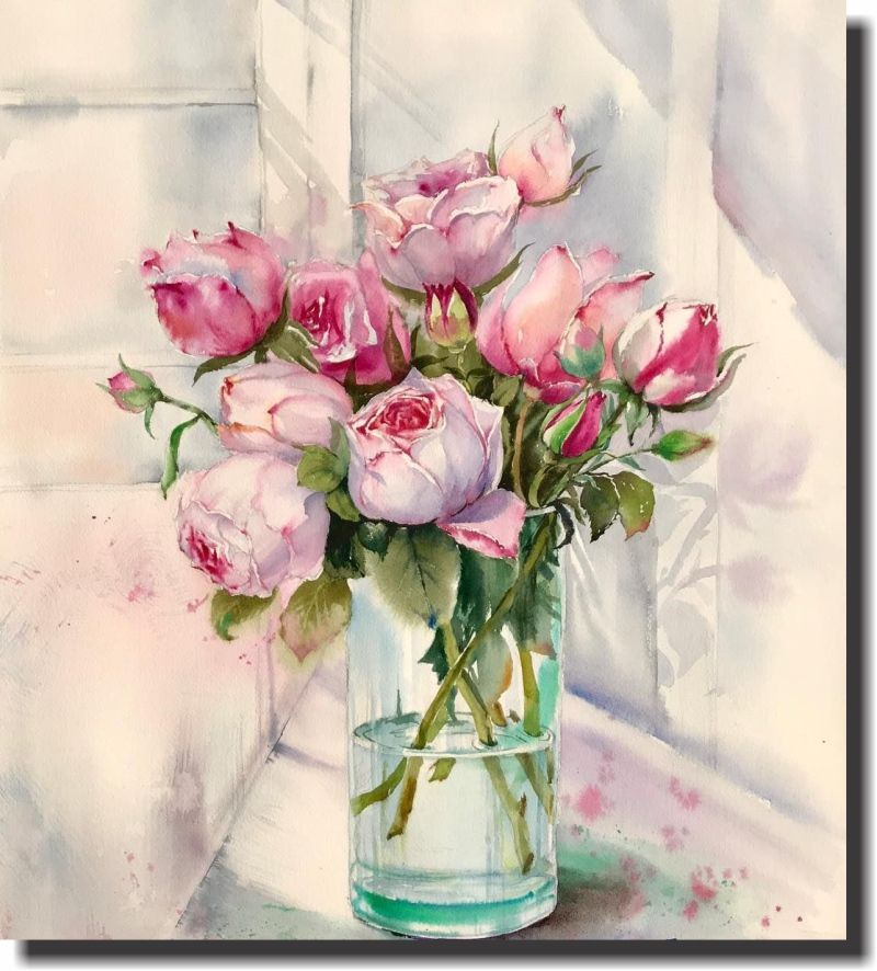 Quadro Decorativo Vaso de flor 1 peça