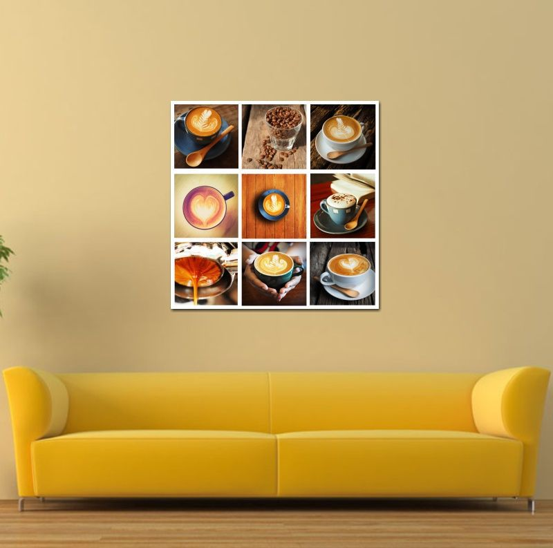 Quadro Decorativo Xicara de café capuccino com chantilly