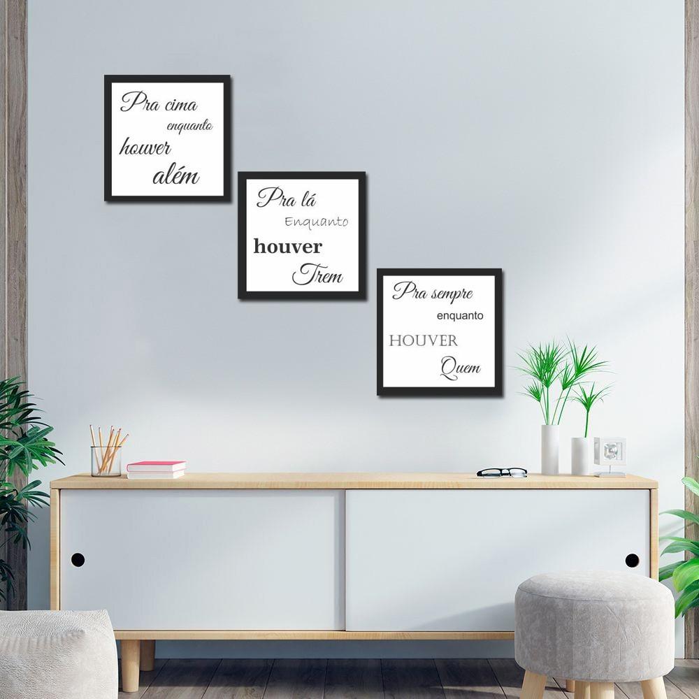 Quadro Decorativos Frases Para Quarto E Sala 3 Peças