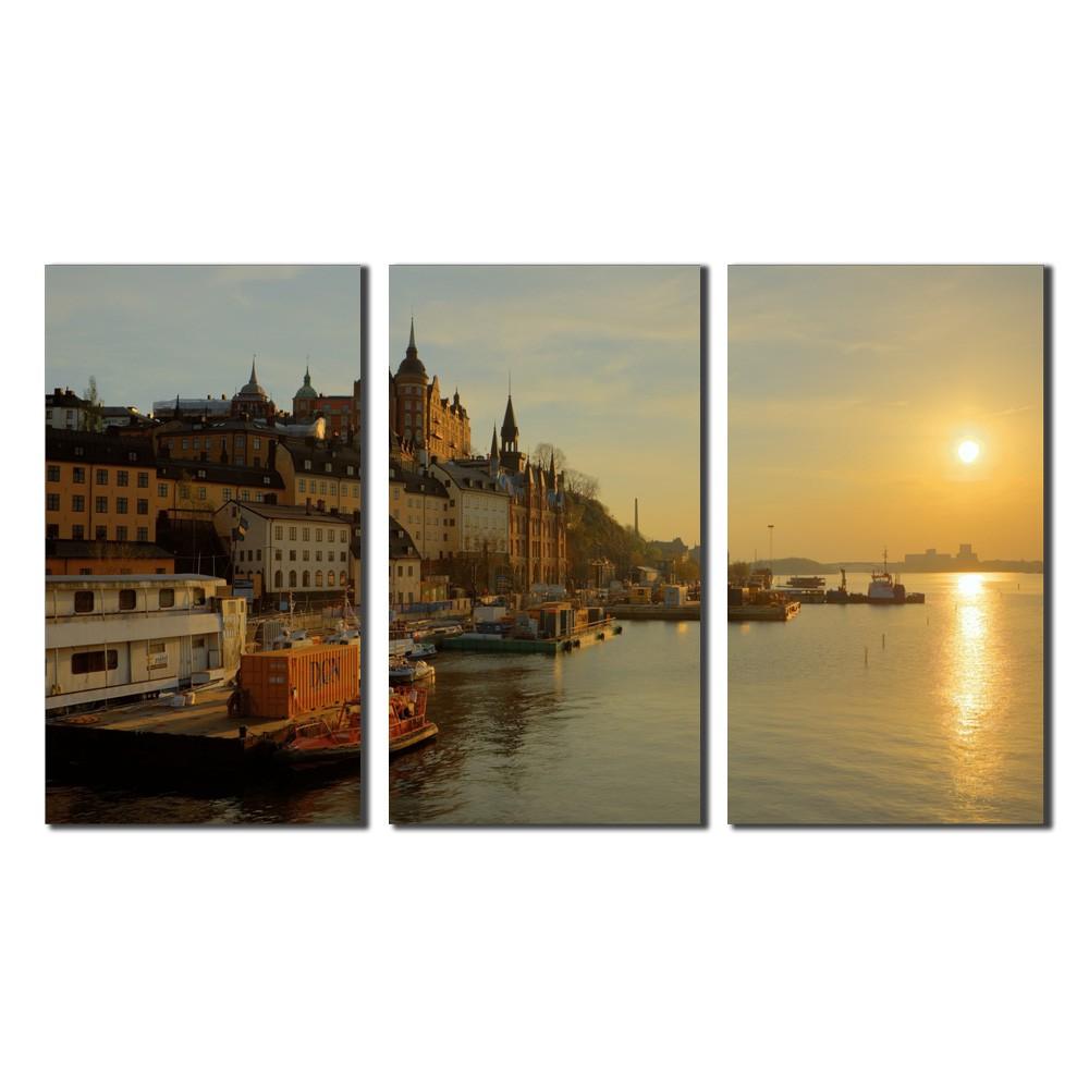 Quadro Estocolmo Rio por do Sol