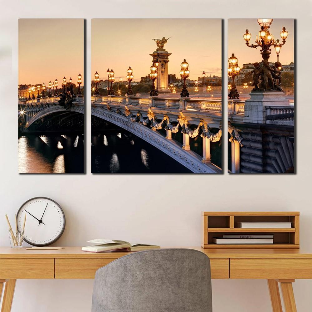 quadro frança Paris Alexander Bridge