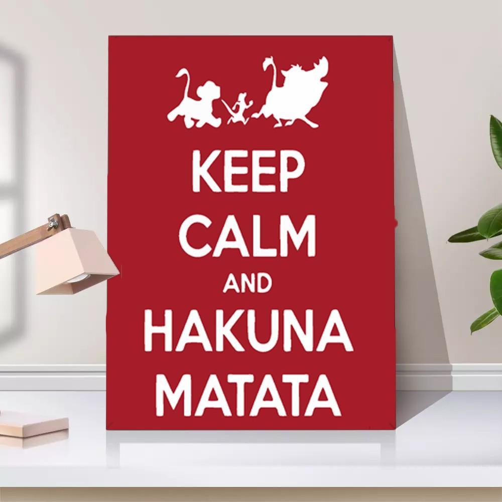 Quadro Keep Calm and Hakuna Matata