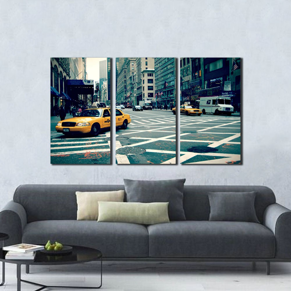 Quadro New York City Street Taxi