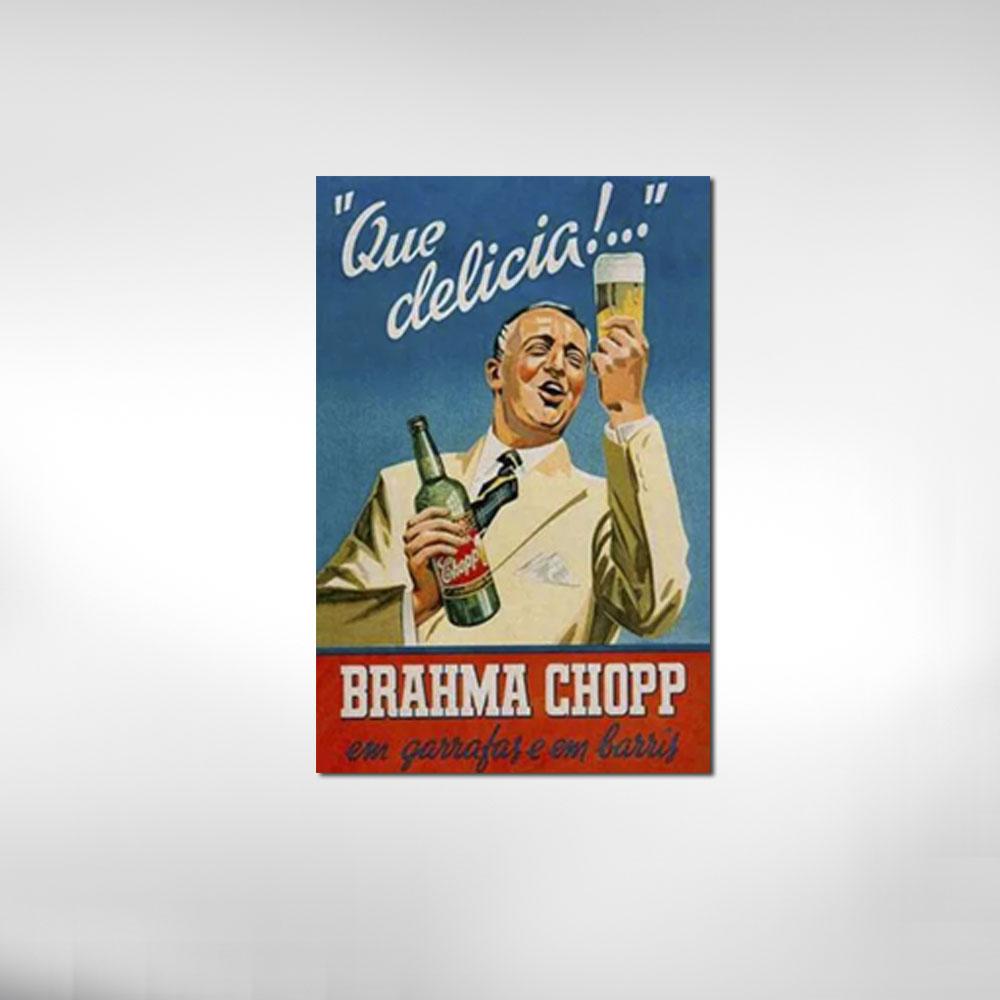 Quadro retrô Brahma Chopp