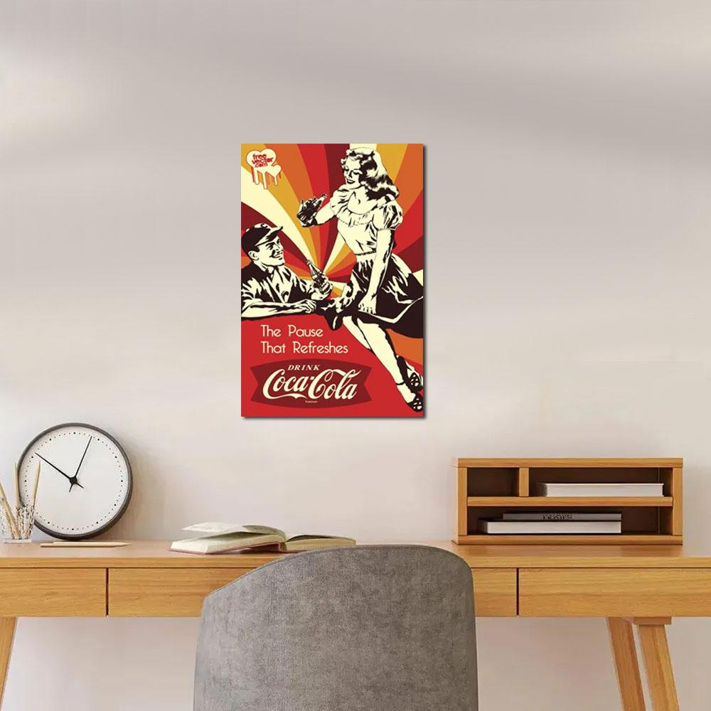 Quadro retrô Drink coca cola