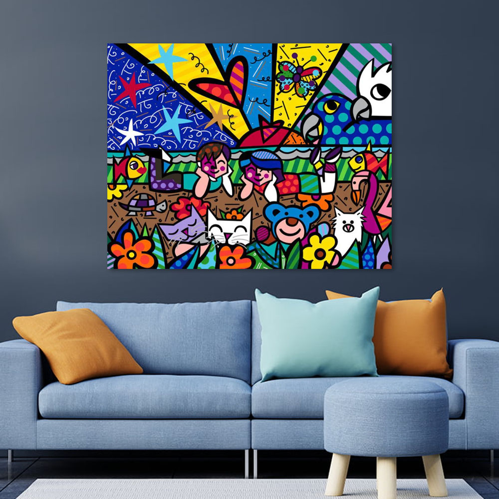 Quadro Romero Britto In The Park