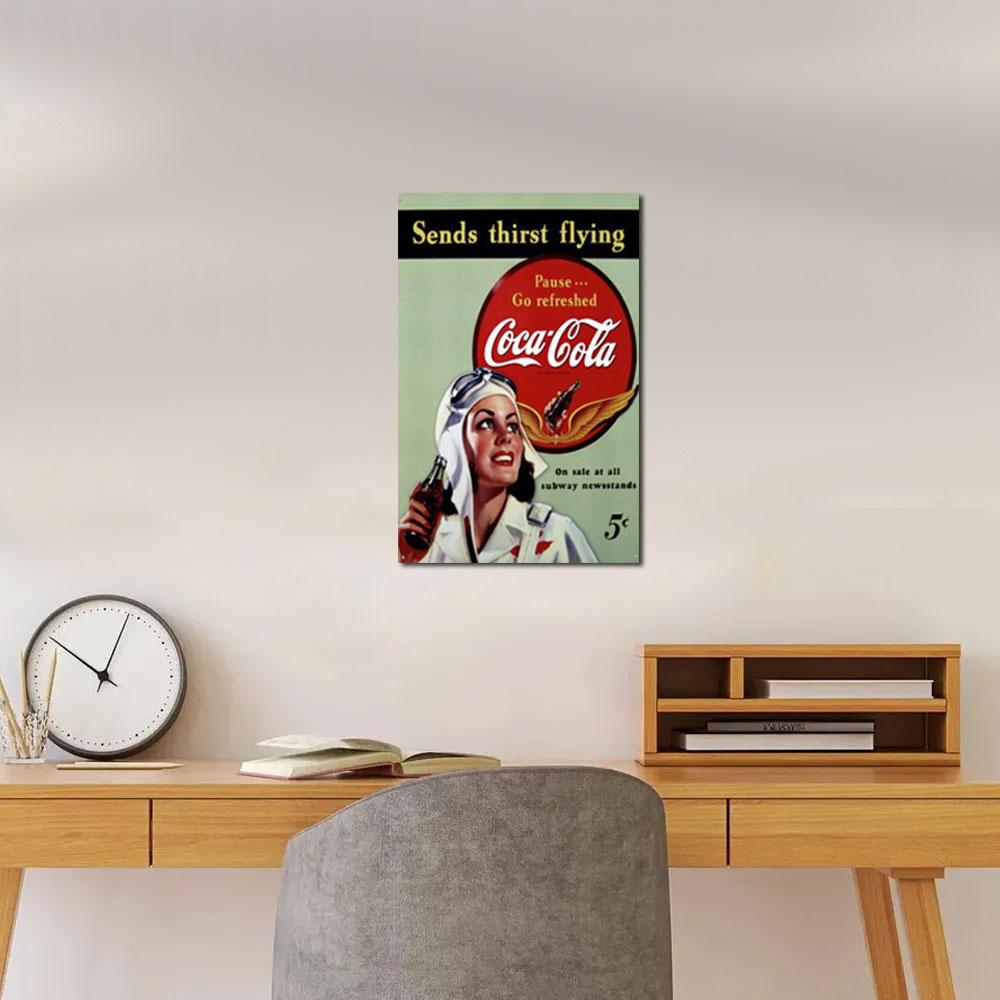 Quadro vintage Coca cola