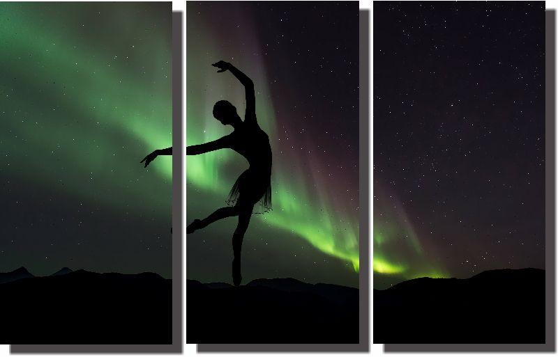 Quadros Decorativos Bailarina para Sala 3 peças