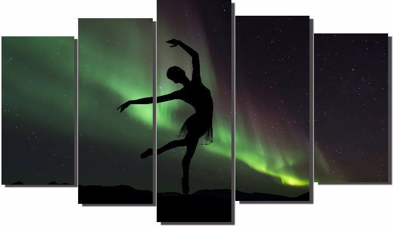 Quadros Decorativos Bailarina para Sala 5 peças