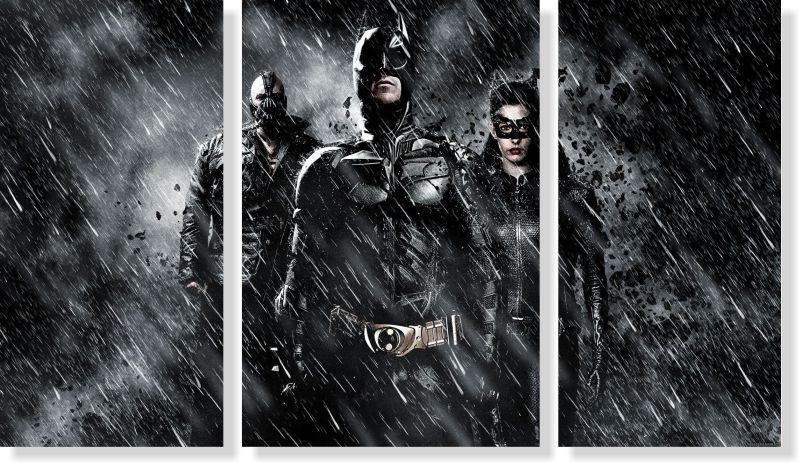 Quadros Decorativos Batman 3 peças