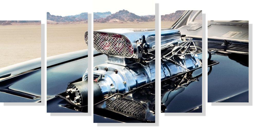 Quadros Decorativos Carro Veloz para Quartos 5 peças