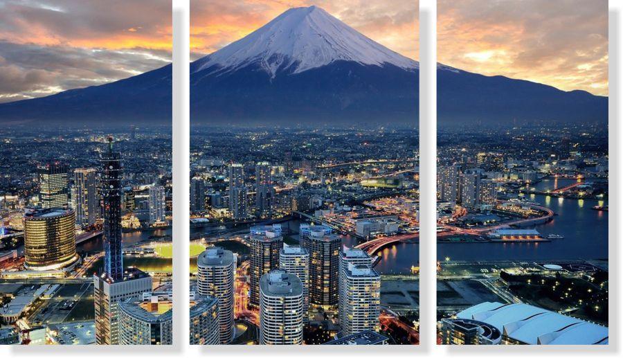 Quadros Decorativos Cidade de Japan 3 peças