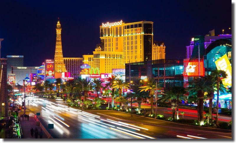 Quadros Decorativos Cidade de Las Vegas 1 peça