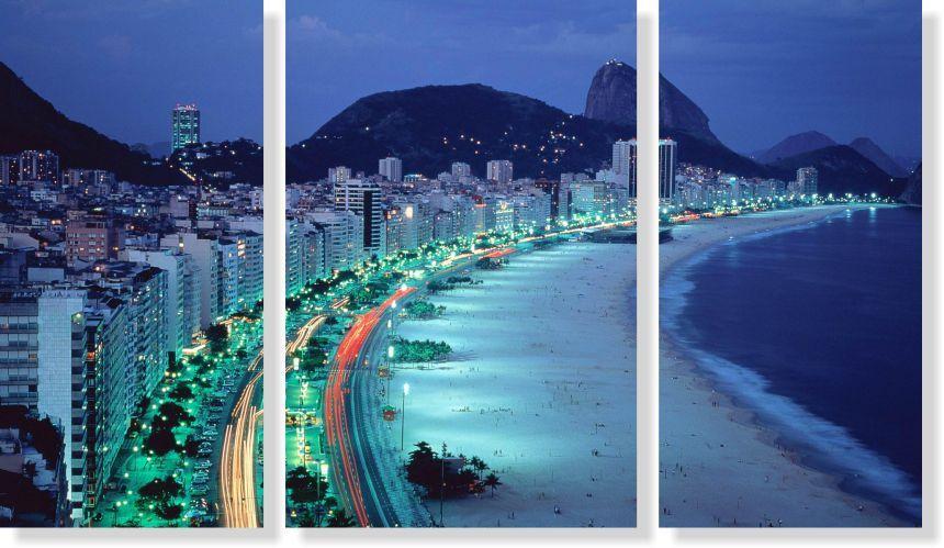 Quadros Decorativos Cidade de Rio de Janeiro 3 peças