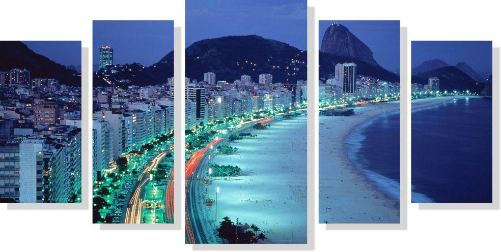 Quadros Decorativos Cidade de Rio de Janeiro 5 peças