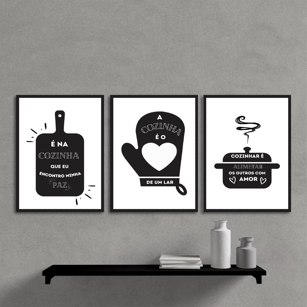 Quadros Decorativos Kit Cozinha Frases