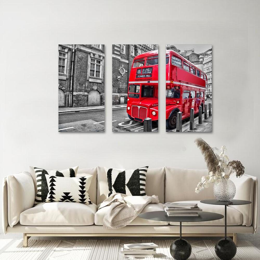 Quadros Decorativos Londres Vermelho