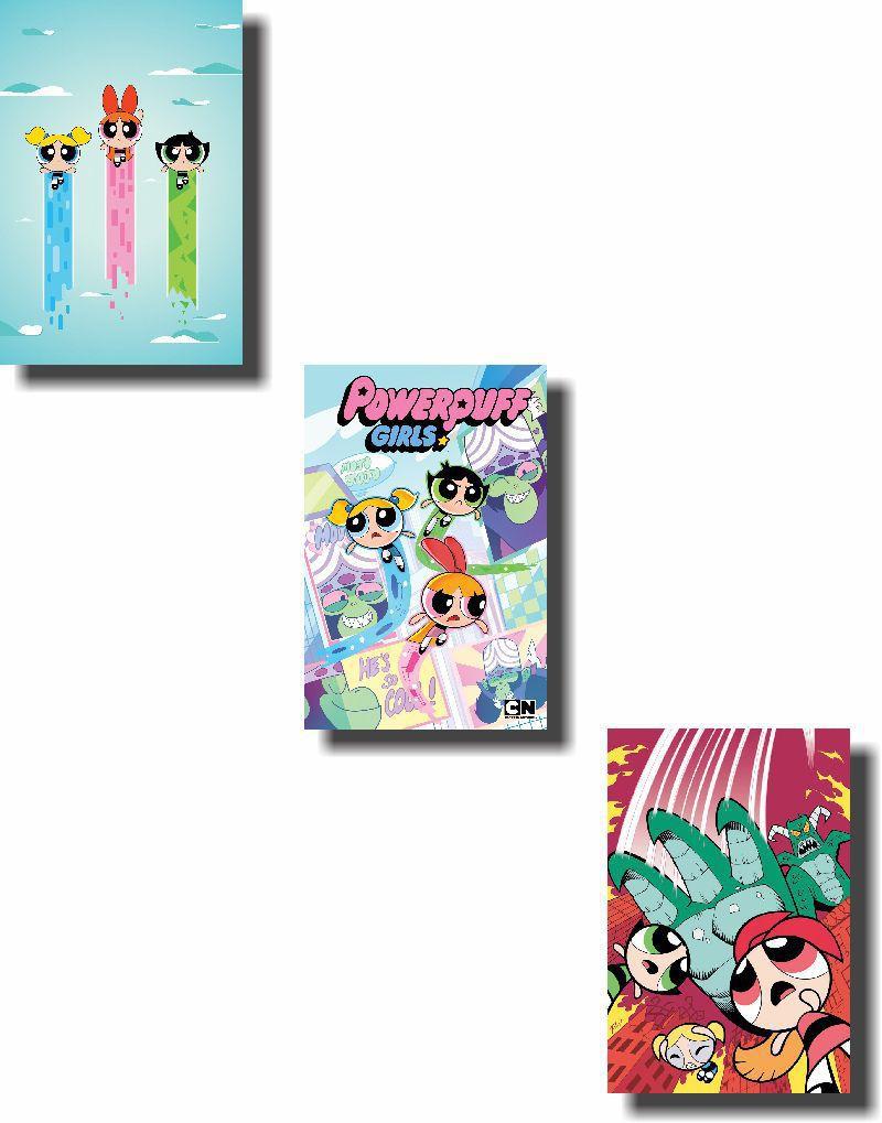 Quadros Decorativos Meninas Super Poderosas 3 peças