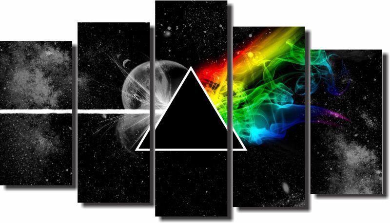 Quadros Decorativos Pink Floyd 5 peças