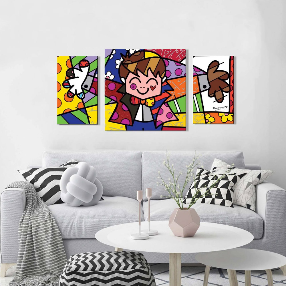 Quadros Decorativos Romero Britto - Hug Too