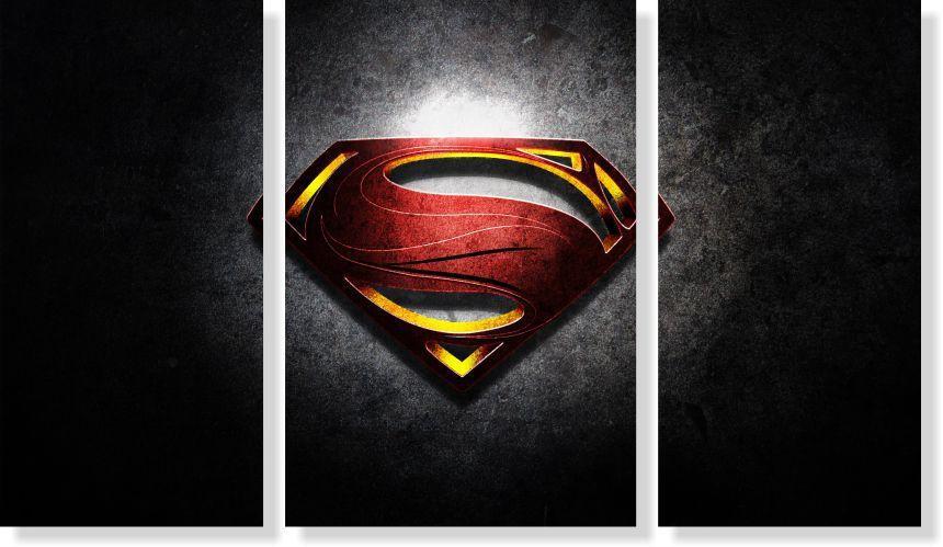 Quadros Decorativos Super Homem para Quartos 3 peças