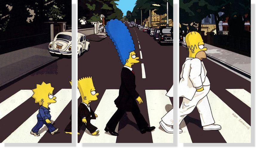 Quadros Decorativos The Simpsons para Quartos 3 peças