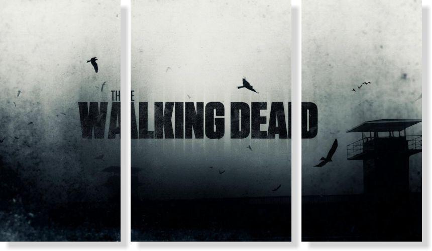 Quadros Decorativos The Walking Dead para Quartos 3 peças
