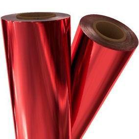 Transfer Foil Vermelha Para Artesanato Rollo 122 Metros