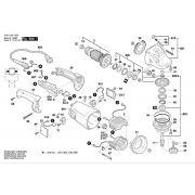 Peças p/ Esmerilhadeira Bosch 9 Pol GWS 20-230 (3 601 GA1 0D0)