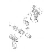 Peças p/ Parafusadeira/Furadeira-Bateria DF330D - MAKITA
