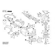 Peças para Esmerilhadeira GWS21-180- 220V - BOSCH  (3601G514E0)
