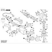 Peças para Esmerilhadeira GWS 24-180 (3601G534E0)